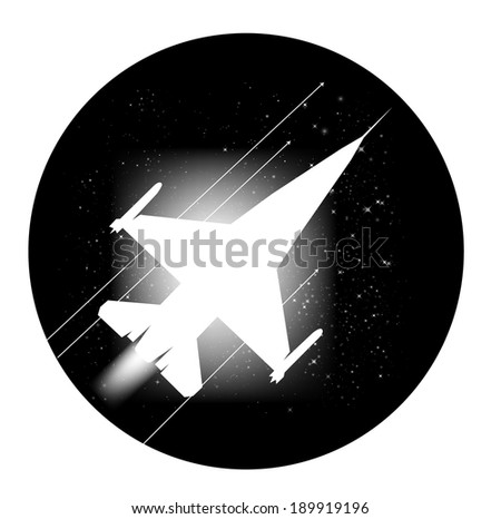Jet plane vector artwork. Eps 10 file included - stock vector