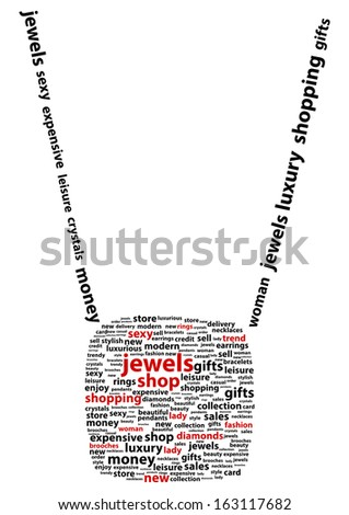 Jewel Shop Word Cloud Concept - stock vector