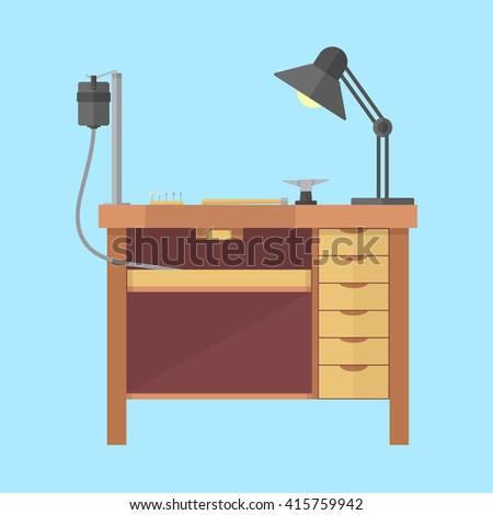 Jewelry Workshop Jewelry Bench Tools Jewelry Stock Vector