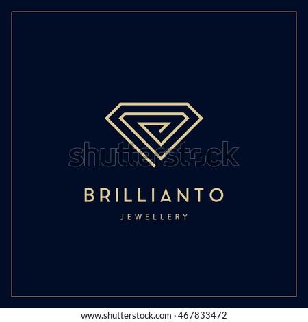 Jewelry company logotype. Jewelry icon.