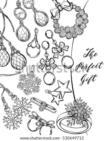 Jewlery coloring pages ~ Jewelry Sketch Stock Images, Royalty-Free Images & Vectors ...