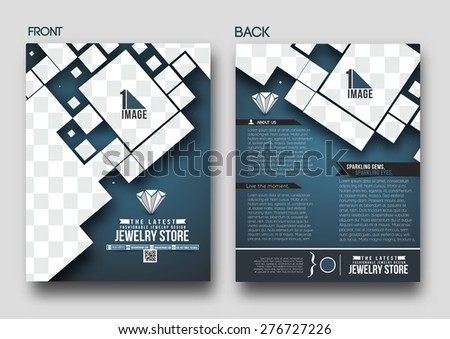 Jewelry Store Back Flyer & Poster Template  - stock vector