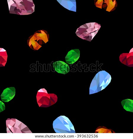 Jewels on the black background  - stock vector