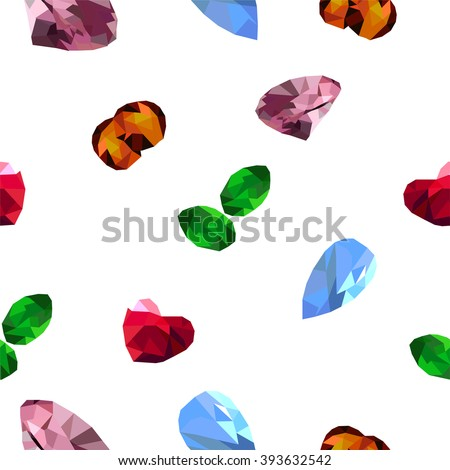 Jewels on the white background  - stock vector