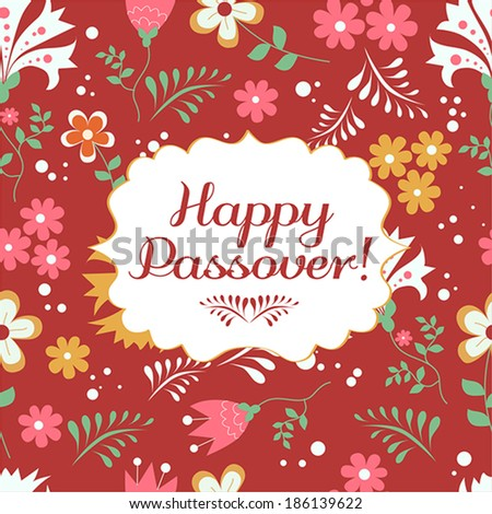Jewish passover holiday greeting card design stock vector 186139622 jewish passover holiday greeting card design vector illustration with text happy passover m4hsunfo