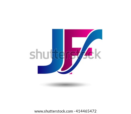 JF letter icon logo connected  - stock vector