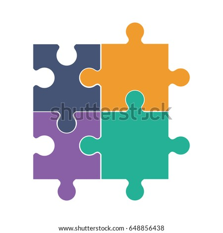 Jigsaw Puzzle Icon Stock Vector 648856438