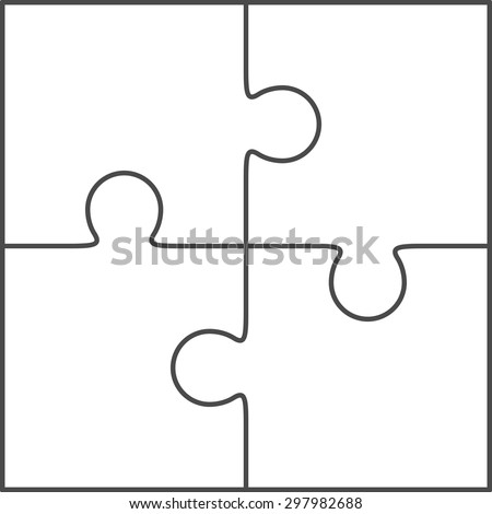 jigsaw puzzle vector blank simple template stock vector. Black Bedroom Furniture Sets. Home Design Ideas