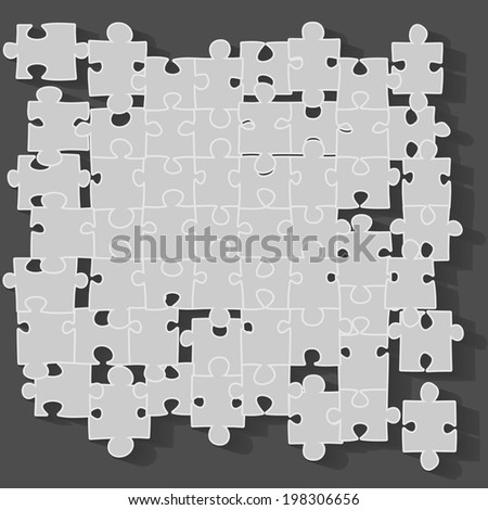 Jigsaw puzzle, vector illustration - stock vector