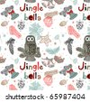 Jingle bells. Christmas seamless pattern - stock photo