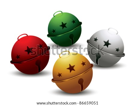 JIngle bells vector - stock vector