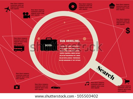 Job Application info graphic chart / vector / design / wallpaper - stock vector