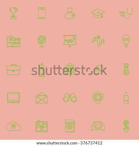 Job Description Line Icons On White Stock Vector