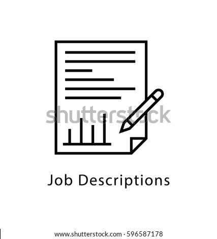 Job Description Vector Line Icon Stock Vector   Shutterstock