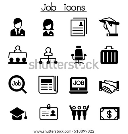 Job & Employment icon set