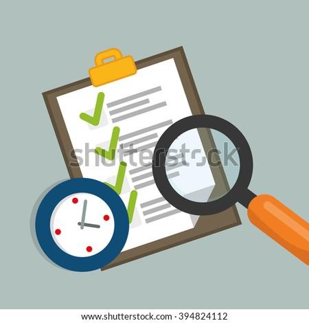 Job interview document design - stock vector