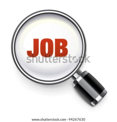 Job search concept - stock vector