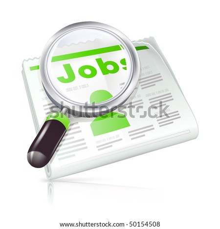 Job Search, vector icon