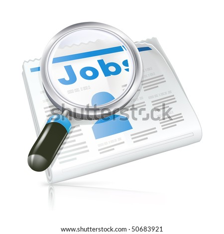 Job, vector icon - stock vector