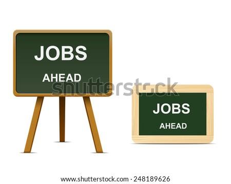 Jobs ahead - stock vector
