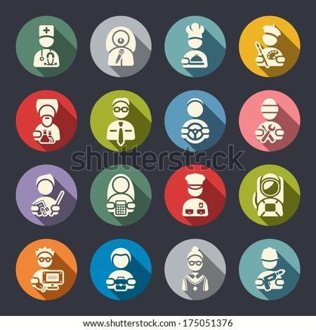 Jobs icon set - stock vector