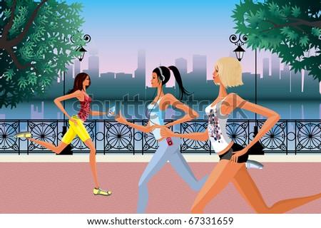 Jogging - stock vector