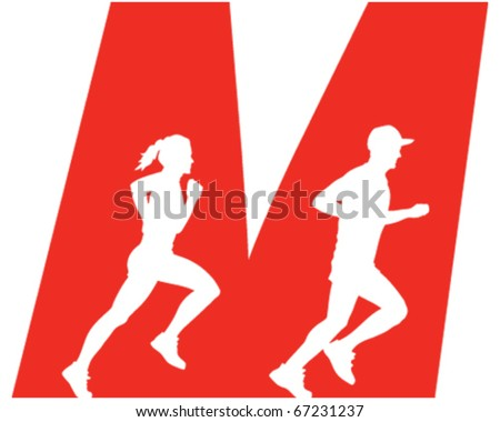 Jogging Icon - stock vector