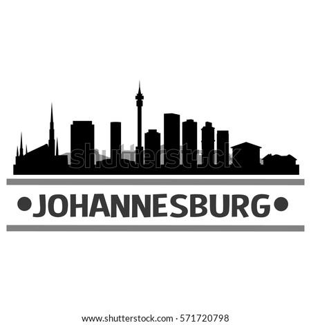 Johannesburg skyline silhouette city design vector stock photo johannesburg skyline silhouette city design vector art thecheapjerseys Images