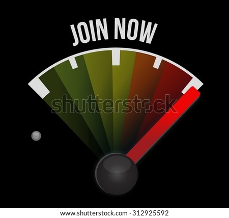 Join Now meter sign concept illustration design graphic - stock vector