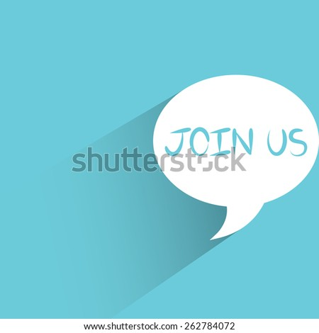 join us message - stock vector