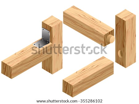 joinery connections1 - stock vector