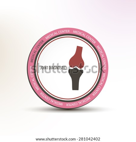 Joint diagnostic medical center concept circle logo