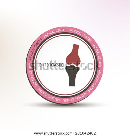 Joint diagnostic medical center concept circle logo - stock vector