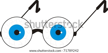 joke eye glasses - stock vector