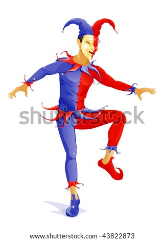 Joker, vector - stock vector