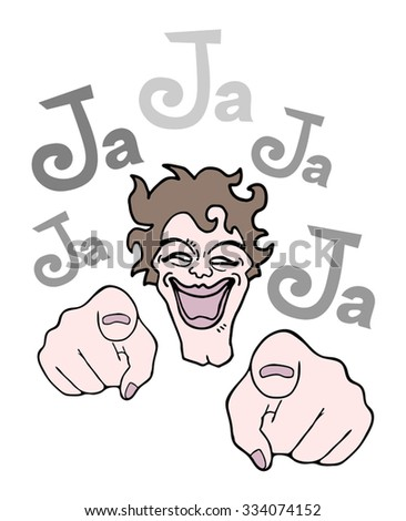 joking illustration - stock vector