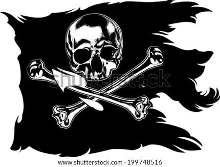 Jolly Roger - stock vector