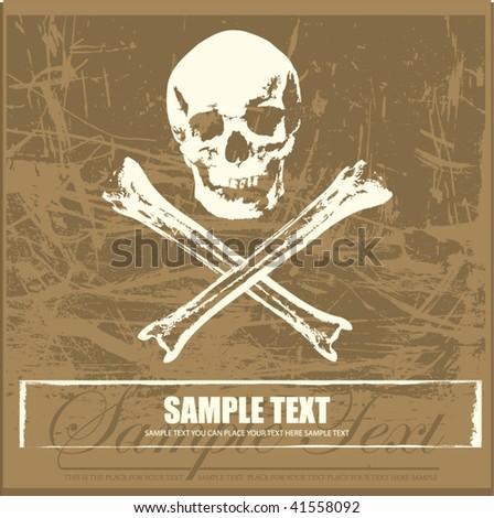 Jolly Roger background - stock vector