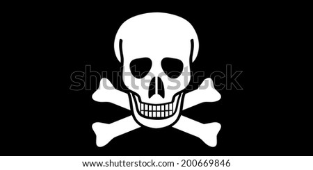 Jolly Roger flag. Vector illustration. - stock vector