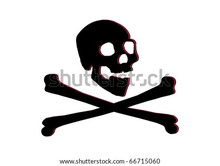jolly roger skull and crossbones - stock vector
