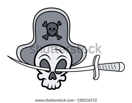 Jolly Roger - Vector Cartoon Illustration - stock vector