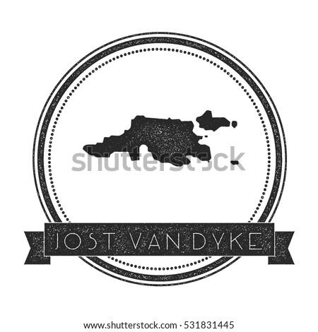 Jost Van Dyke Vector Map Stamp Stock Vector 531831445 Shutterstock