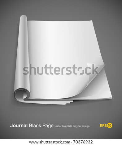 journal page with design layout vector illustration on gray background. eps10 - stock vector