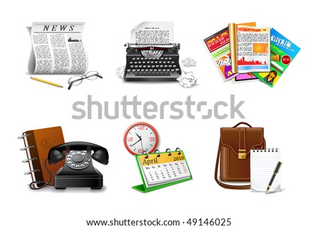 Journalist and press icons, part 2 - stock vector