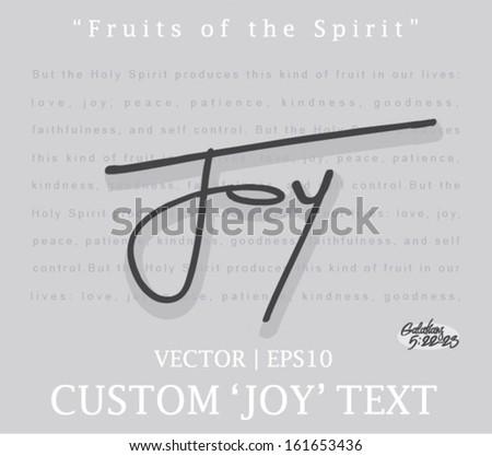 Joy custom font type for christian Bible church vector | EPS10  - stock vector