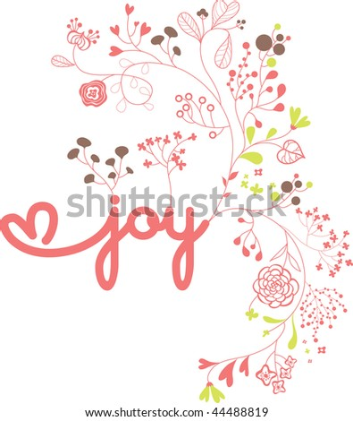 joy garden fonts - stock vector