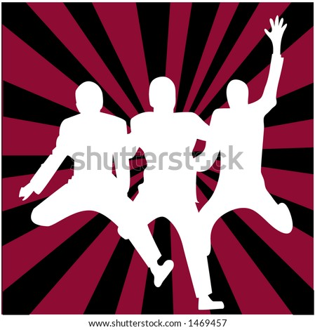 joyful illustration - stock vector