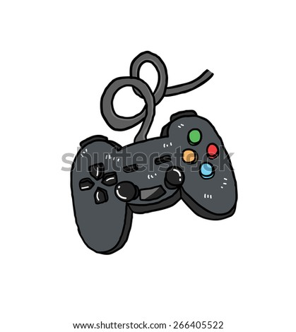 joystick cartoon - stock vector