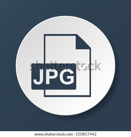 Jpg icon file vector. Flat vector illustrator Eps 10 - stock vector