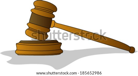 Judge Gavel - stock vector